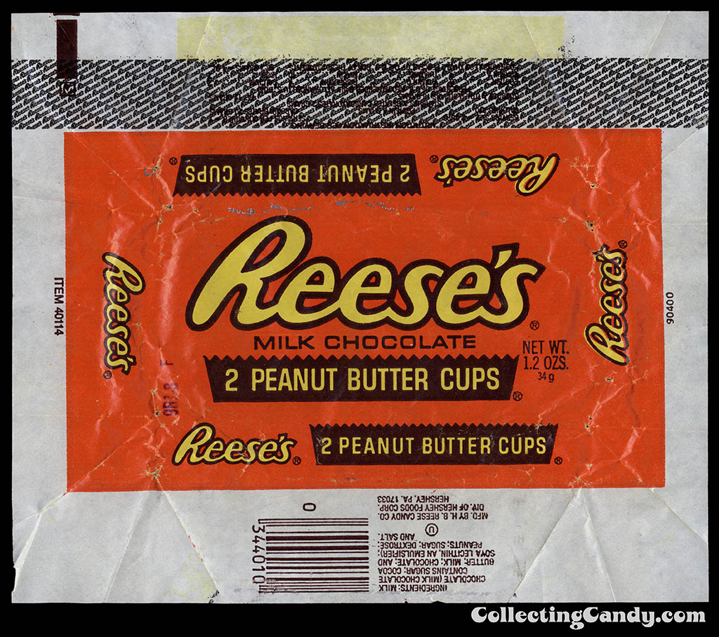 Hershey - Reese's Peanut Butter Cups wrapper - 1981