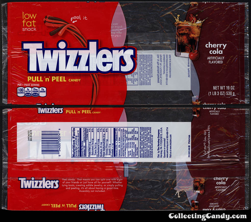 Hershey - Twizzlers - Pull 'n' Peel - Cherry Cola - licorice candy package - maybe Target exclusive - Summer 2014