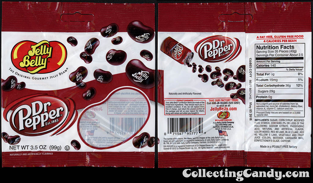 Jelly Belly - Dr Pepper flavor jelly beans - 3.5 oz candy package - 2014