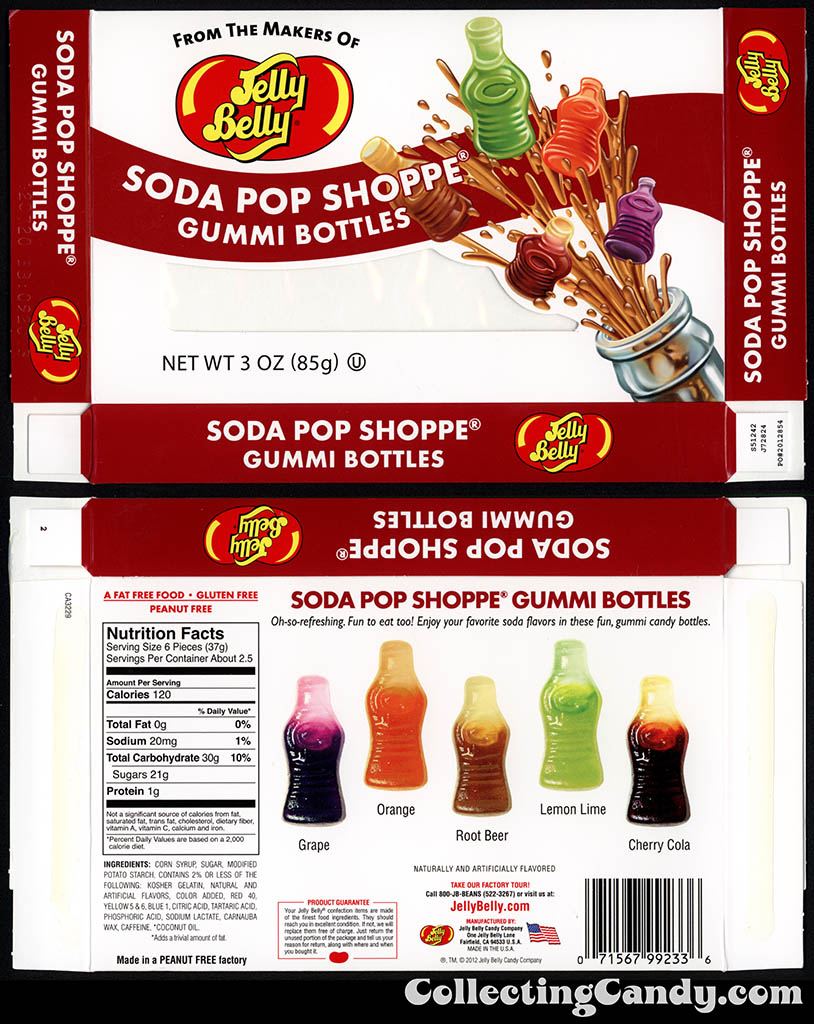 Jelly Belly - Soda Pop Shoppe Gummi Bottles - 3oz candy box - 2013