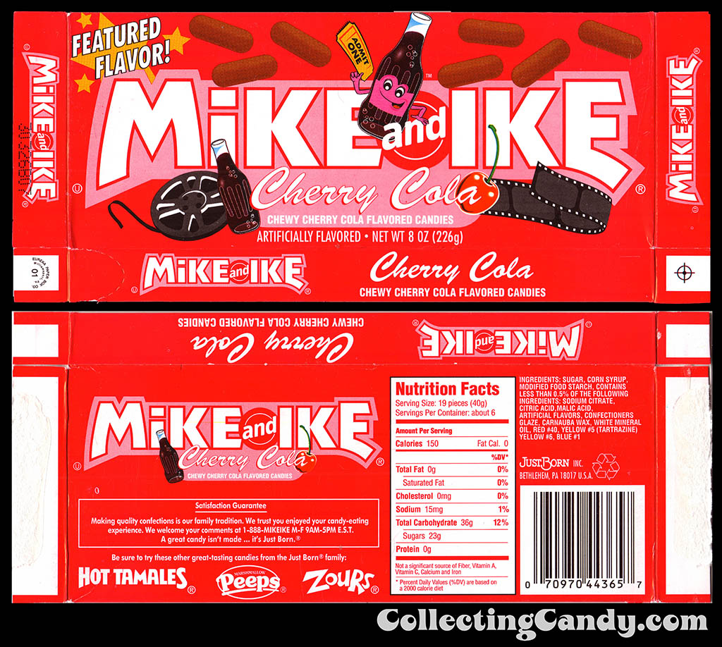 JustBorn - Mike and Ike Featured Flavor Cherry Cola - 8oz candy box - 2003
