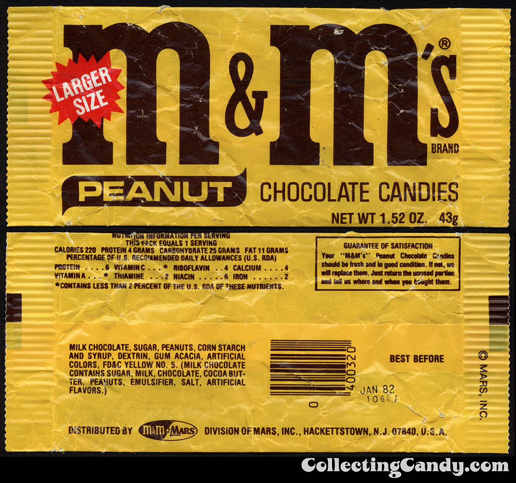 M&M's Peanut - candy package - 1981