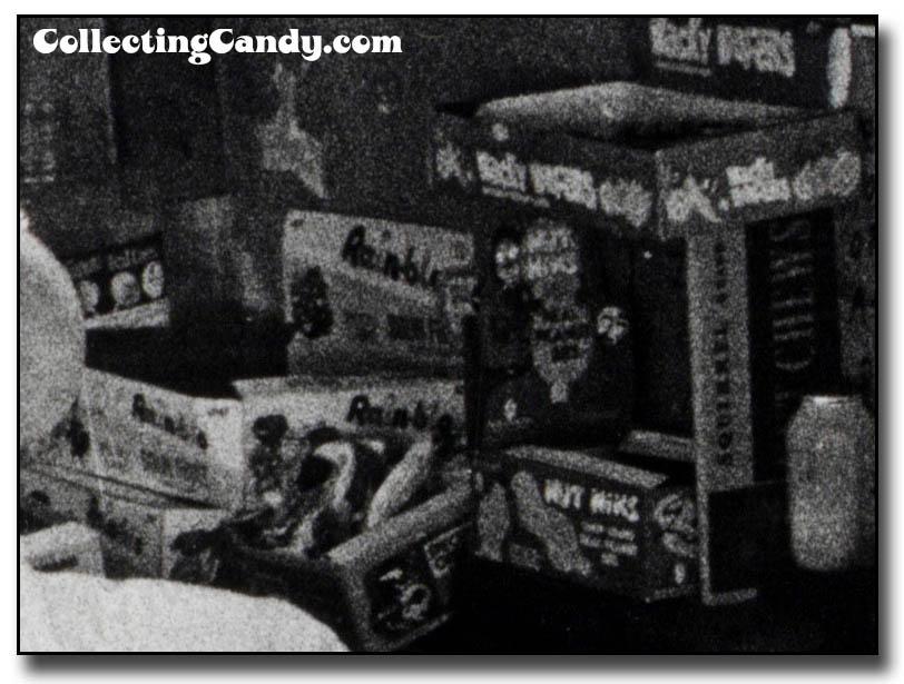 Photo Hunt 1980 - unknown lollies, Rain-blo bubble gum, Leaf Kick-Off Bubble Gum, Fleer-maybe Nut Niks, Wacky Wafers