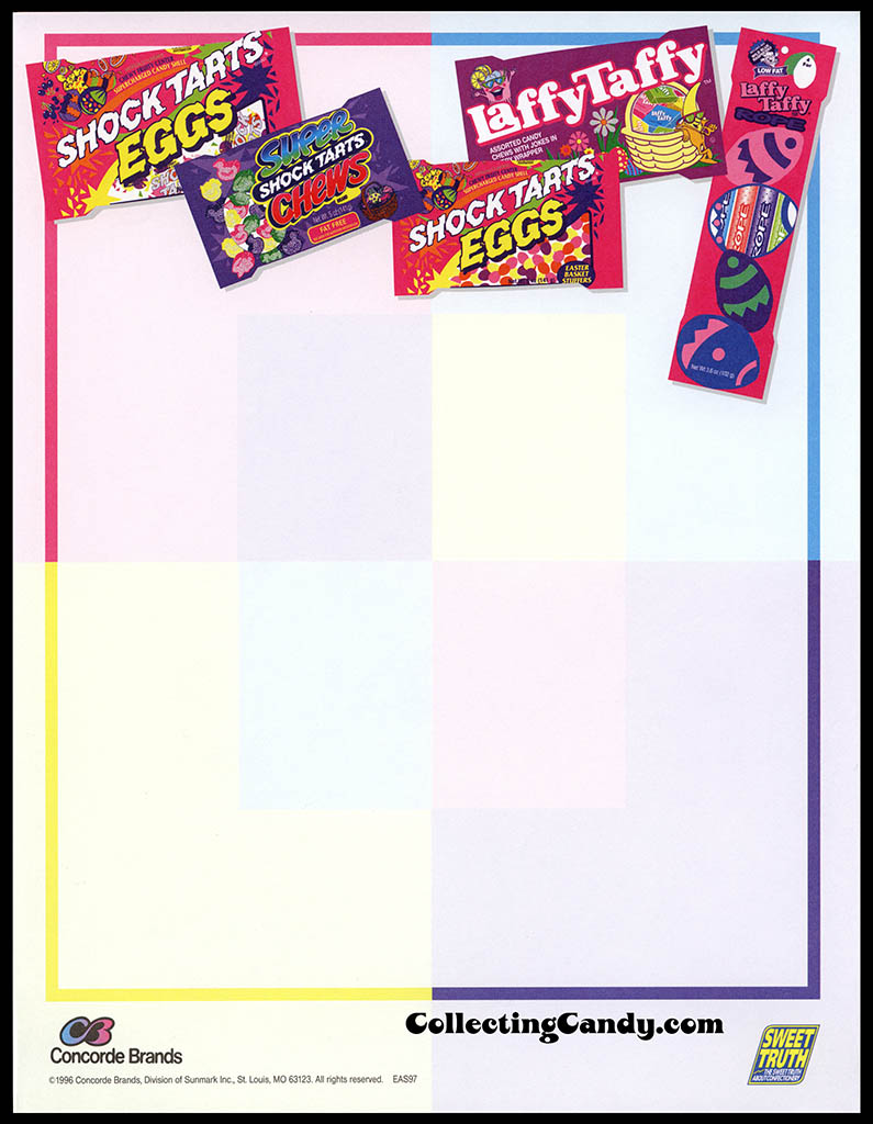 Concorde Brands - Sunmark - Shock Tarts and Laffy Taffy Easter - stationery - 1996