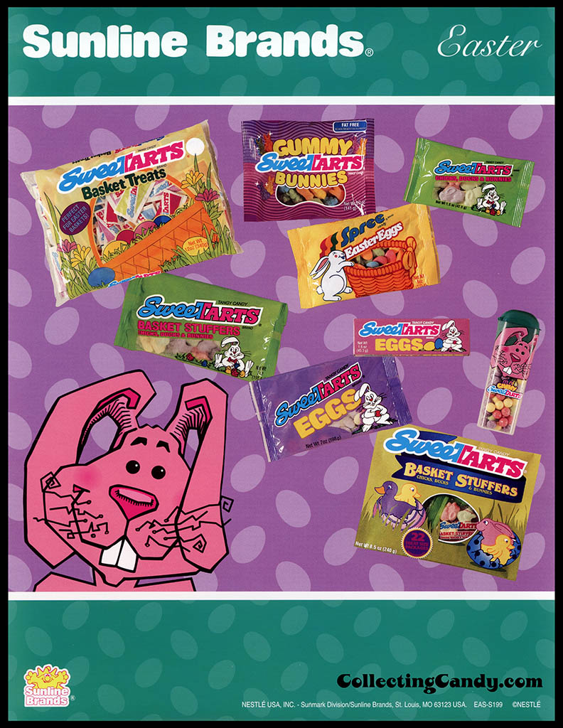 Nestle - Sunline Brands - New Easter Items - Easter Sweetarts promotional flyer - 1990's