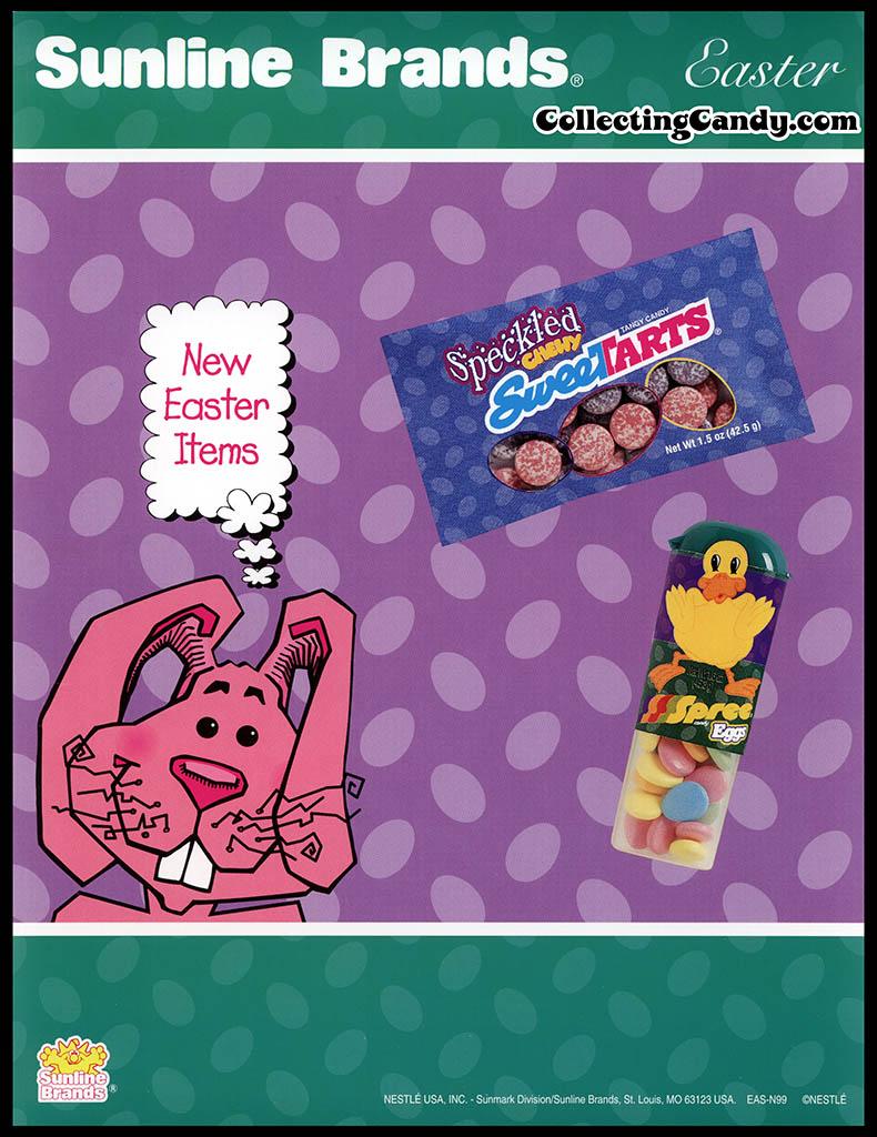 Nestle - Sunline Brands - New Easter Items - Speckled Sweetarts promotional flyer - 1990's