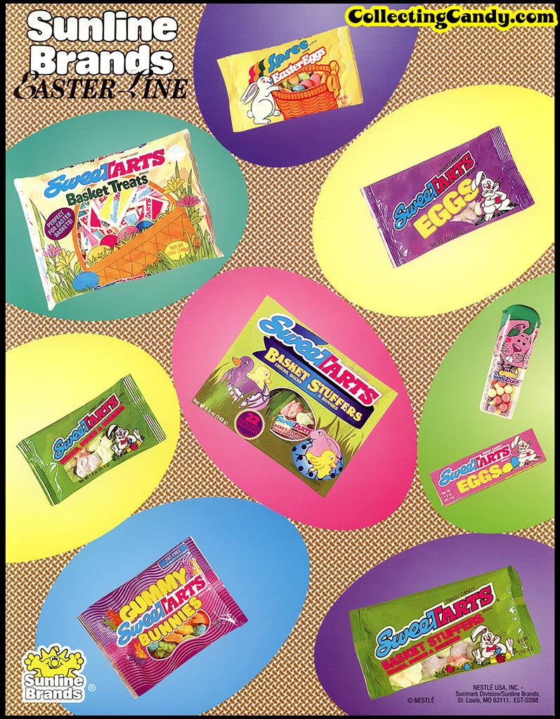 Nestle - Sunline Brands - Sweetarts - Easter Basket Treats - Easter Line - promotional flyer - 1990's