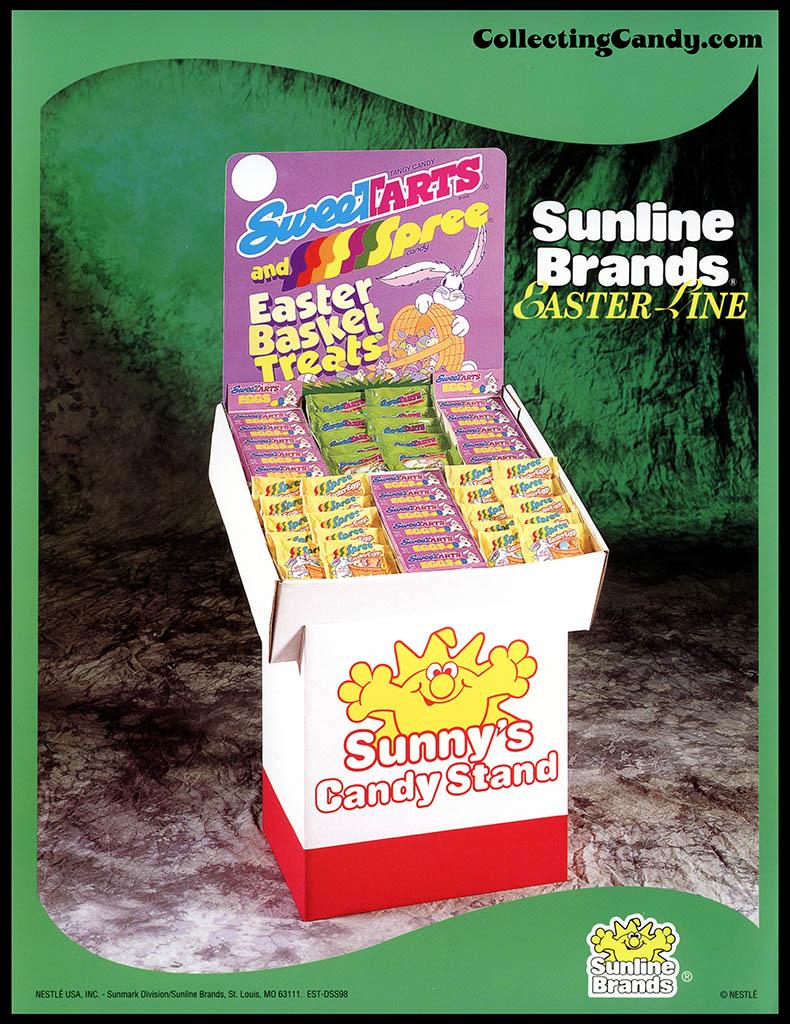 Nestle - Sunline Brands - Sweetarts and Spree - Easter Basket Treats - Easter Line - promotional flyer - 1990's