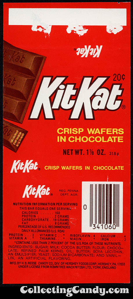CC_Hershey - Kit Kat - 20-cent chocolate candy wrapper - 1977