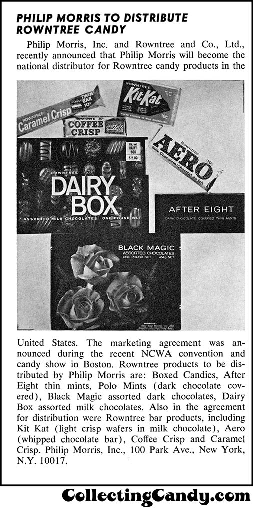 Phillip Morris Rowntree trade clipping - September 1968