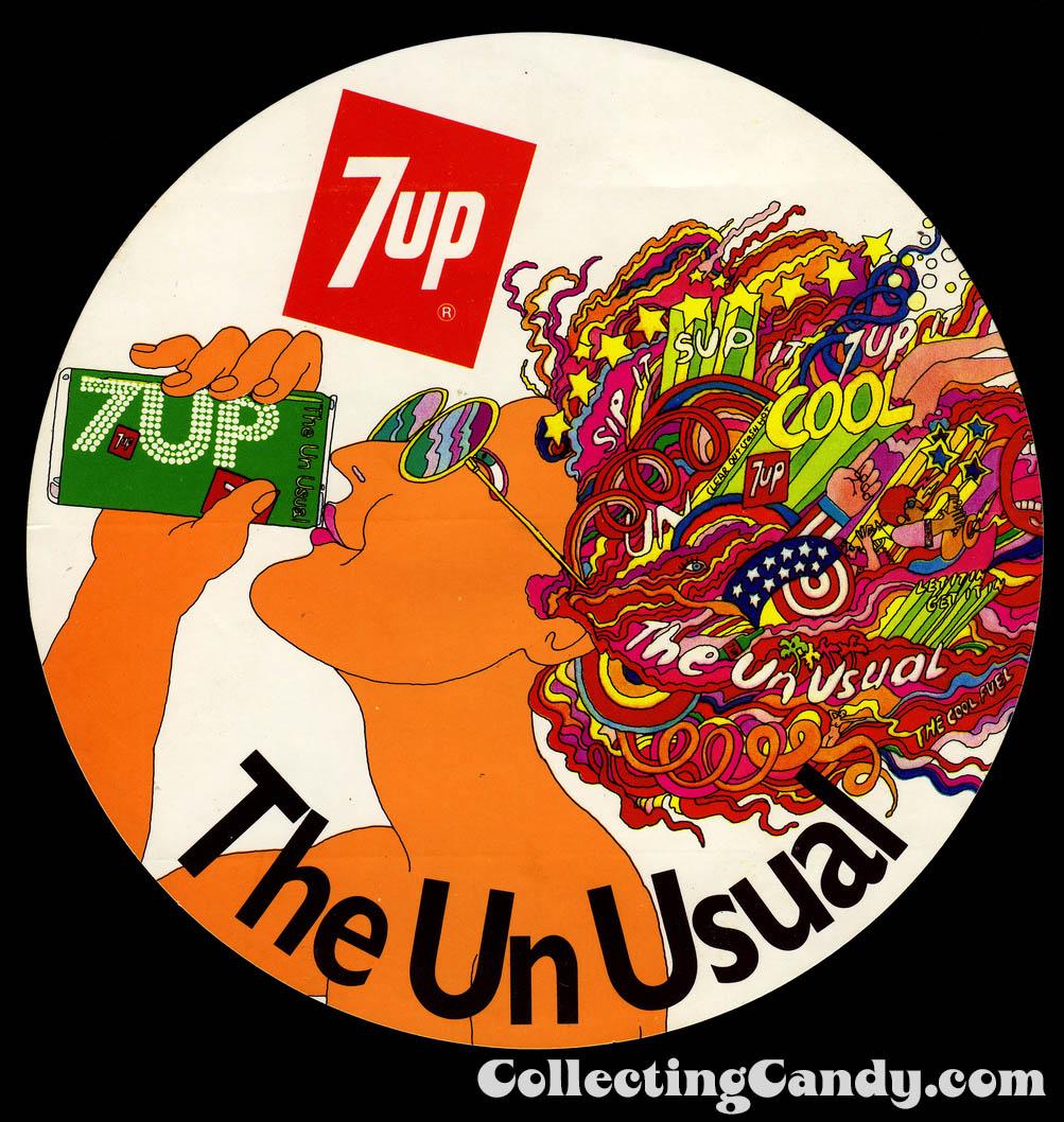 7up The Un Usual - sticker - Australia - 1970's