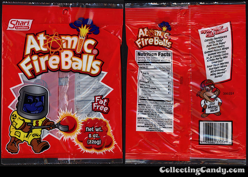 Shari Candies - Atomic Fire Balls - 8oz candy package - 2013