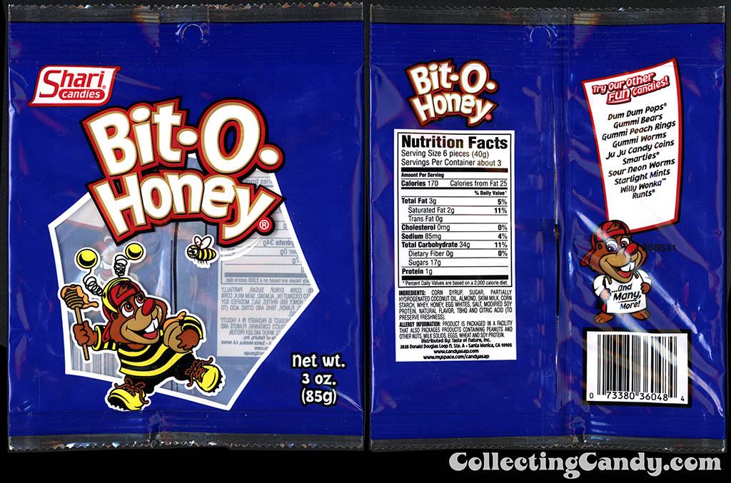 Shari Candies - Bit-O-Honey -3 oz candy package - 2015