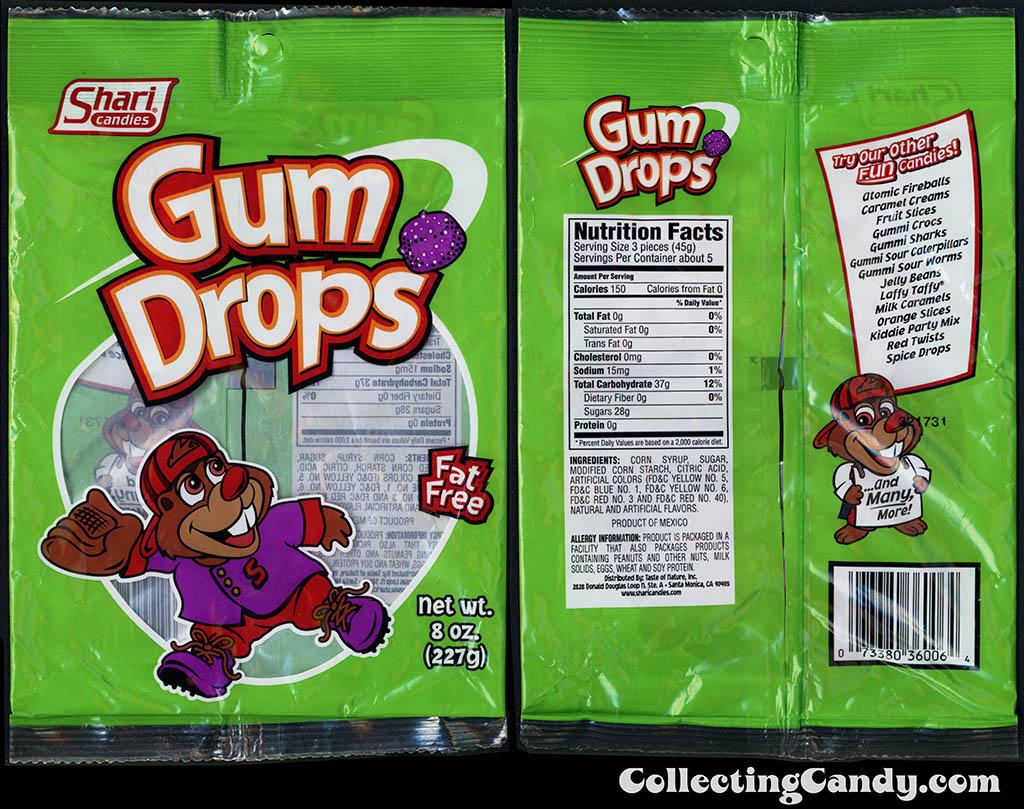 Shari Candies - Gum Drops - 8 oz gummi candy package - 2015