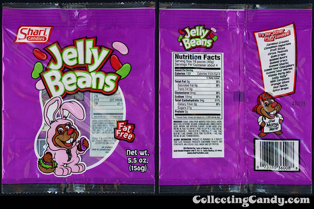 Shari Candies - Jelly Beans - 5.5 oz candy package - 2015