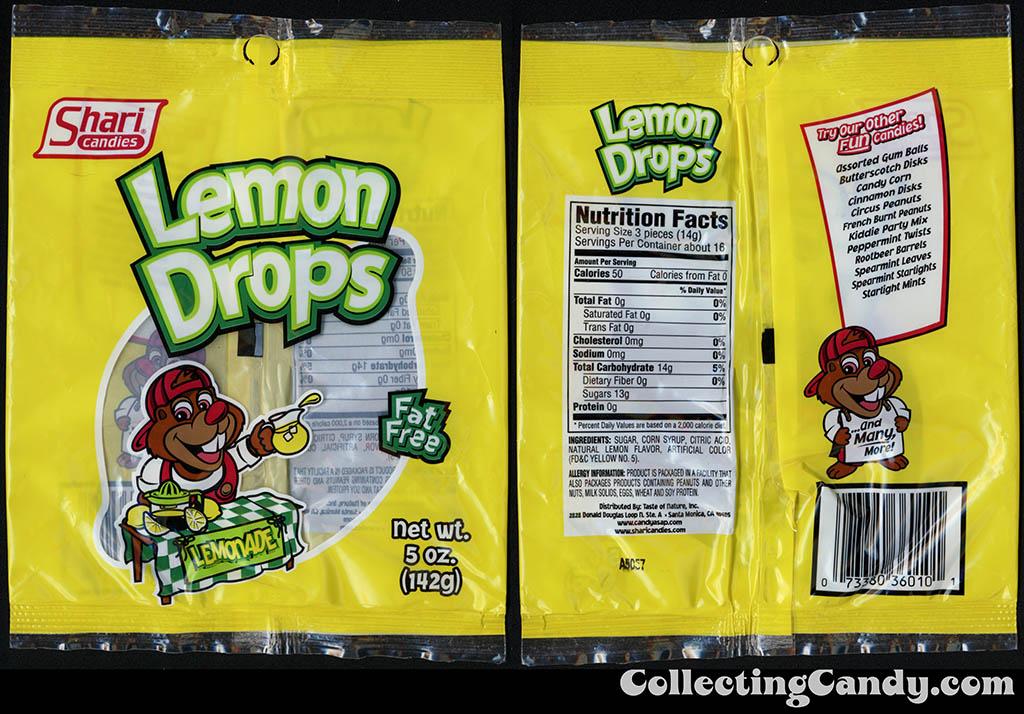 Shari Candies - Lemon Drops - 5 oz candy package - 2015