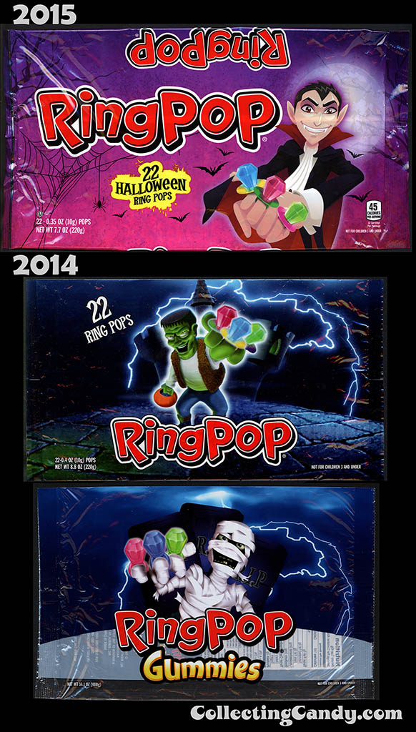 Halloween 2015 Ring Pop Update comparison