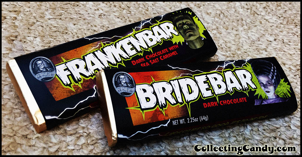 Hammond's - Cost Plus World Market - Universal Monsters Bridebar and Frankenbar chocolate bars - Halloween 2015