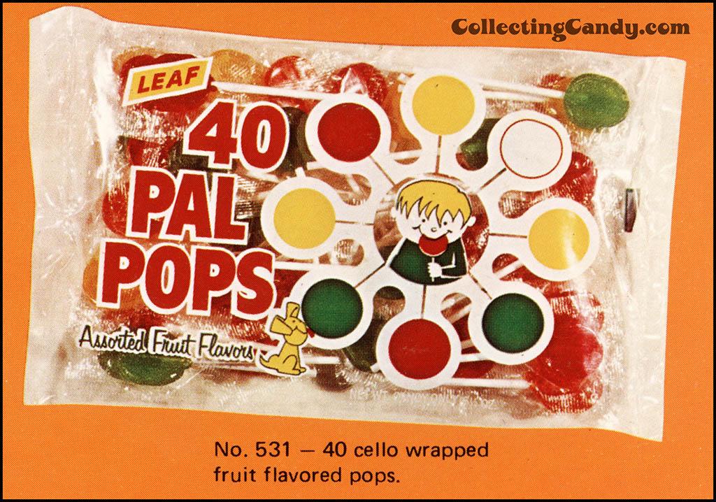 Leaf - 1973 Halloween Sales Brochure close-up - 40 PAL Pops