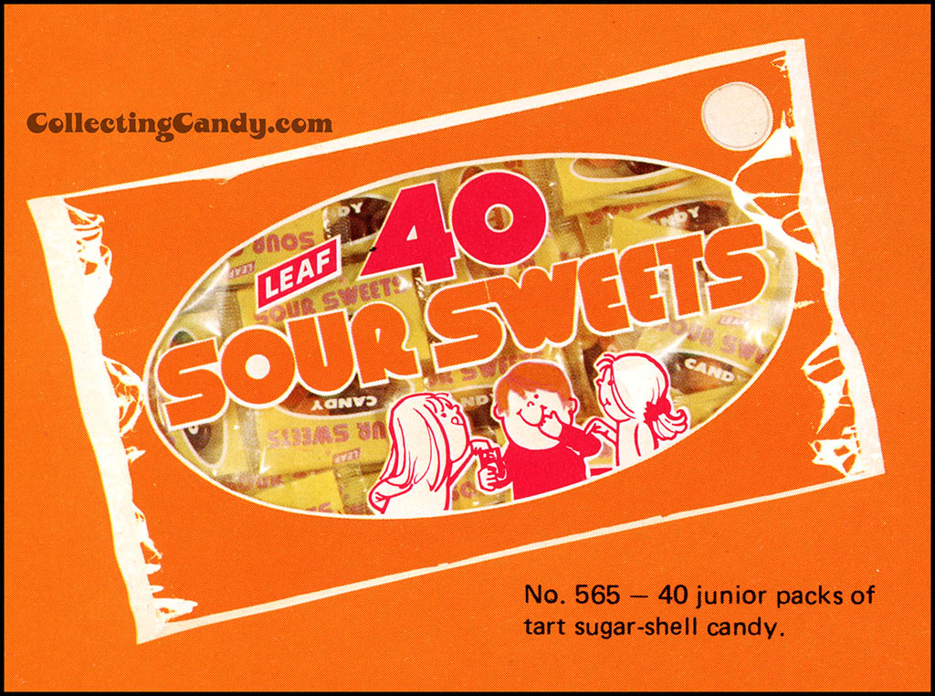 Leaf - 1973 Halloween Sales Brochure close-up - 40 Sour Sweets