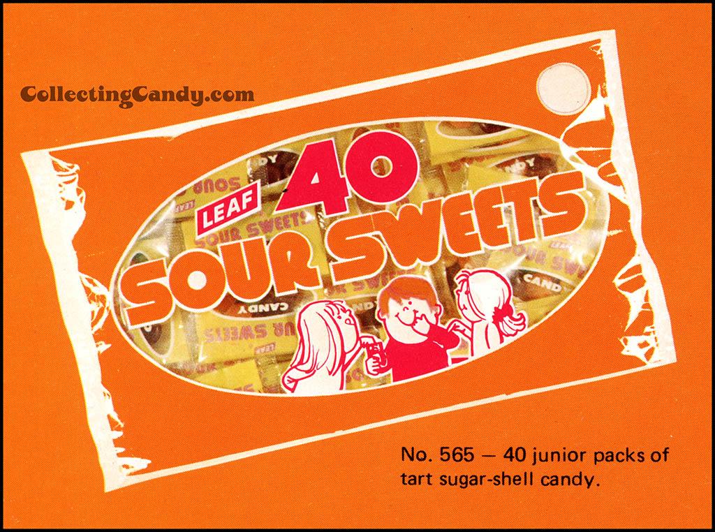 Leaf - 1973 Halloween Sales Brochure close-up - 40 Sour Sweets