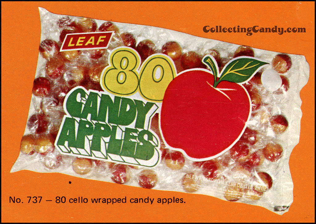Leaf - 1973 Halloween Sales Brochure close-up - 80 Candy Apples
