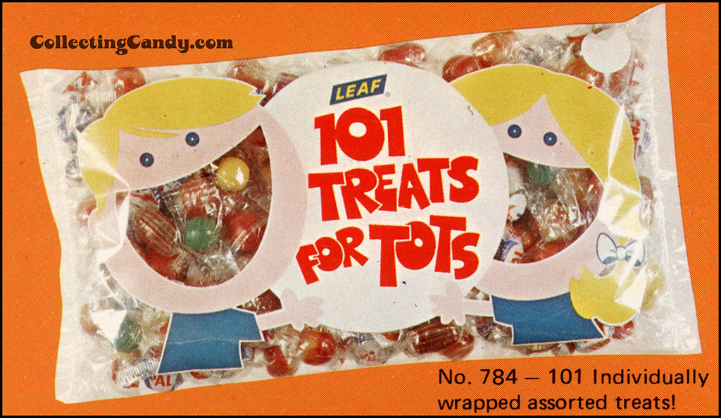 Leaf - 1973 Halloween Sales Brochure close-up - Treats for Tots