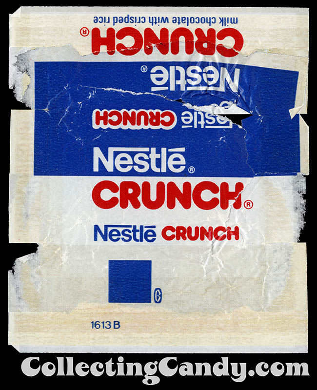 Nestle Crunch fun-size chocolate bar wrapper - 1976-77