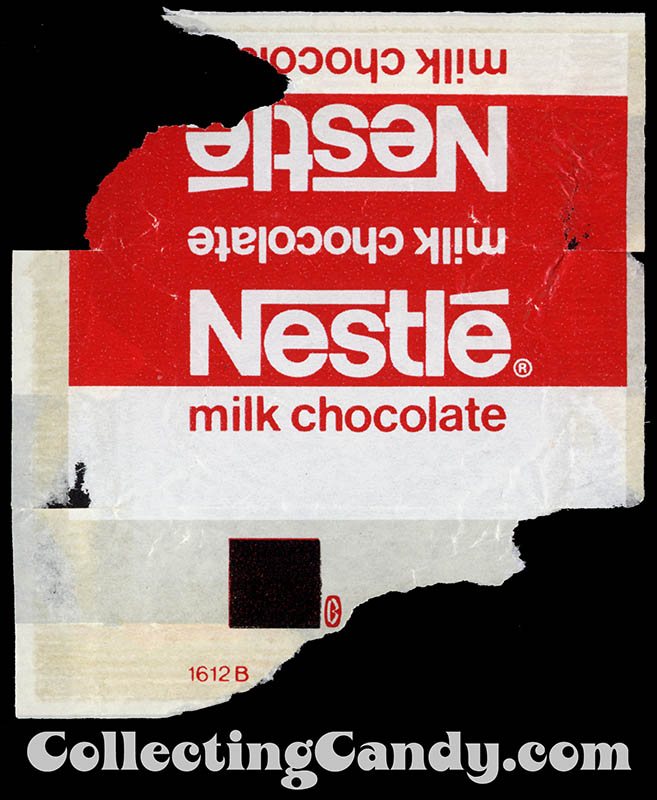 Nestle Milk Chocolate fun-size chocolate bar wrapper - 1976-77