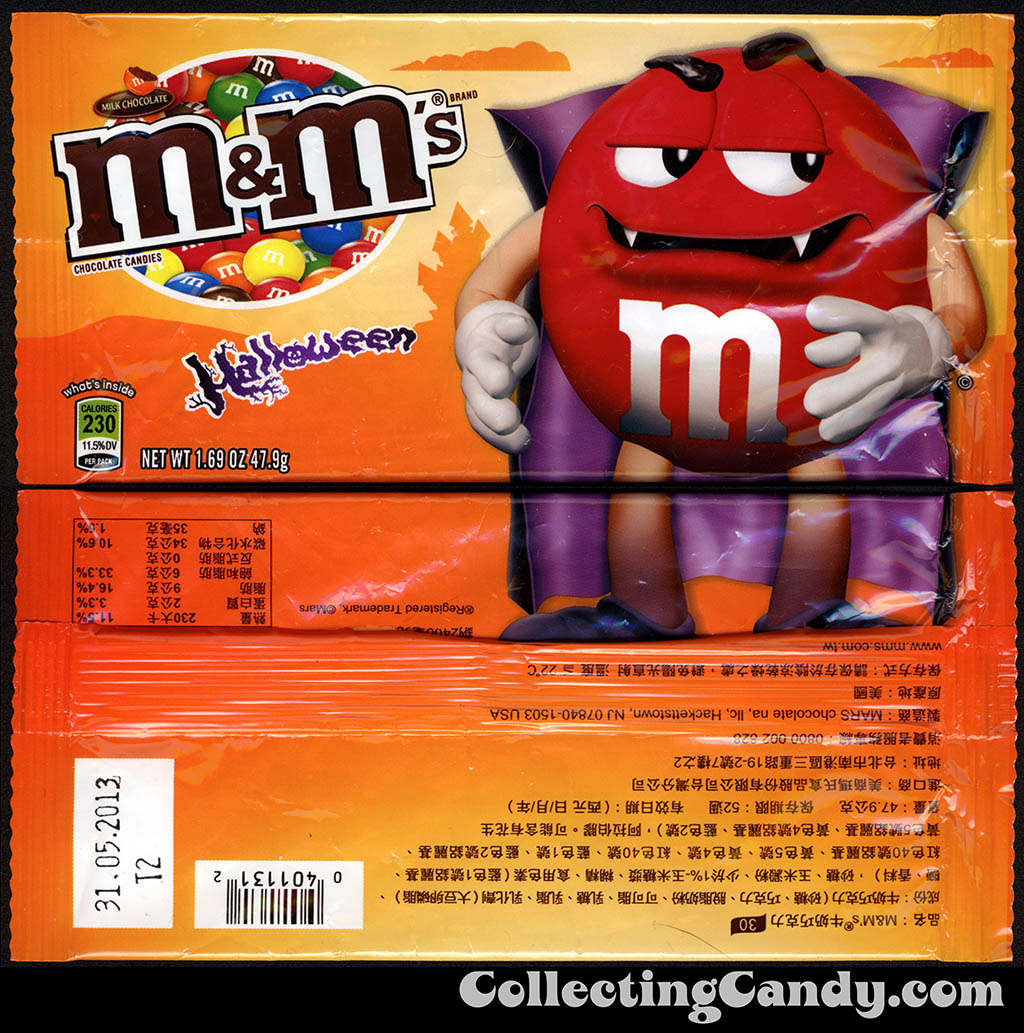 Tiawan - Mars - M&M's Milk Chocolate - Red Dracula - 1.69 oz Halloween candy package - 2012