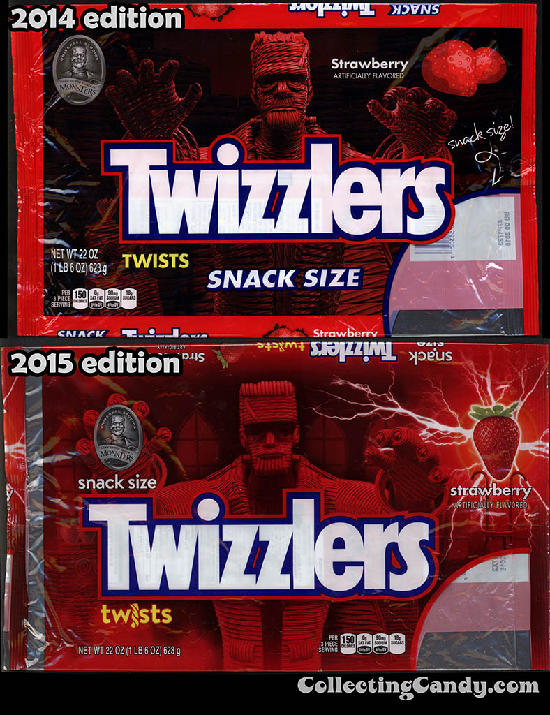 Twizzlers Frankenstein packages 2014 vs 2015 edition comparison