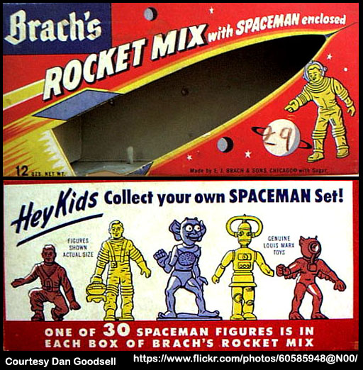 Brach's Rocket Mix candy box - 1950's - Courtesy Dan Goodsell