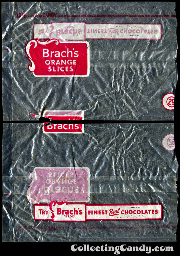 Brach's Orange Slices - 11 1/2 oz candy package - 1950's
