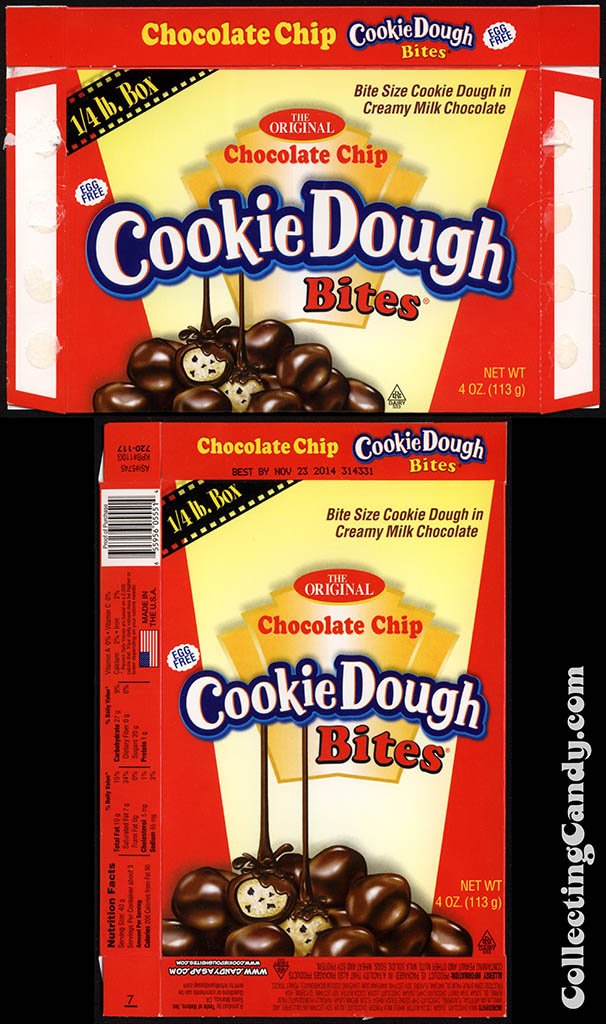 Taste of Nature - CandyASAP - Chocolate Chip Cookie Dough Bites - 1/4 lb box - 4 oz candy box - August 2013