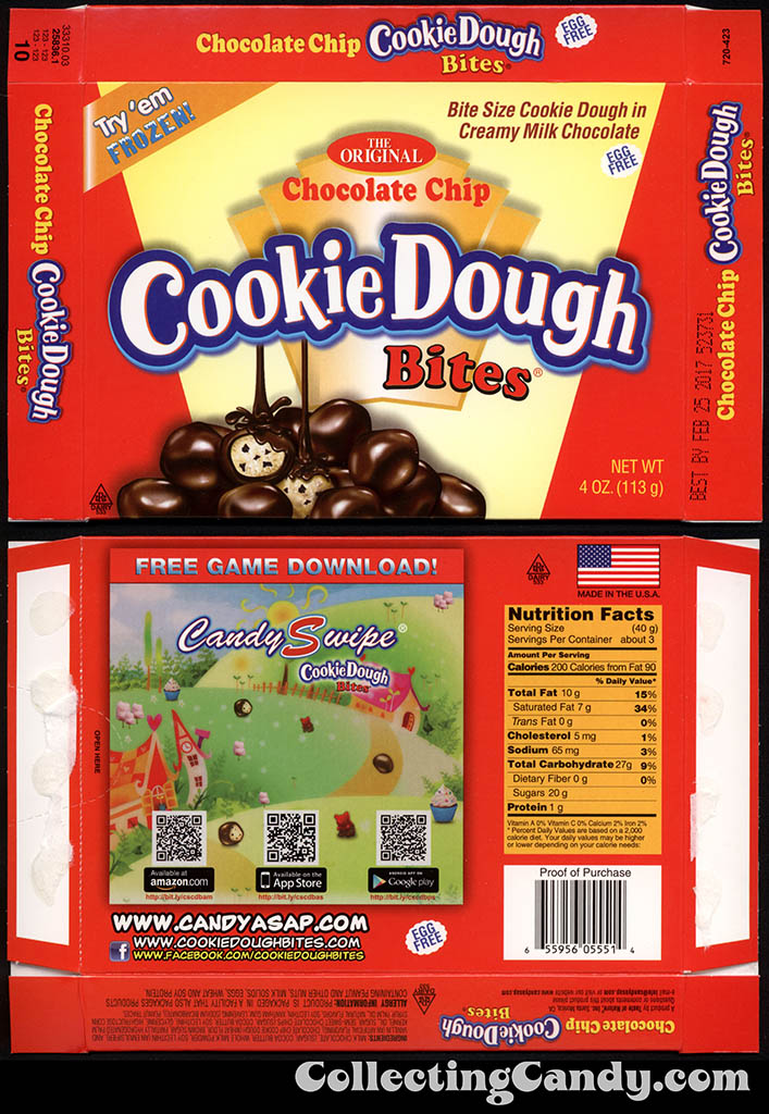 Taste of Nature - CandyASAP - Chocolate Chip Cookie Dough Bites - Try 'em Frozen - Candy Swipe Game - 4 oz candy box - Summer 2015