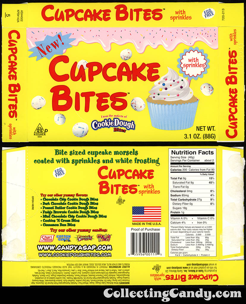Taste of Nature - CandyASAP - Cupcake Bites - New - 3.1 oz candy box - February 2012
