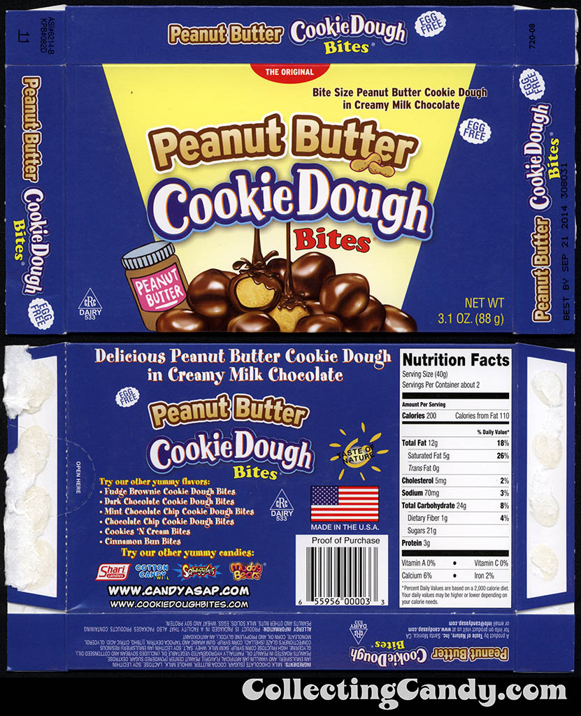 Taste of Nature - CandyASAP - Peanut Butter Cookie Dough Bites - 3.1 oz candy box - September 2014