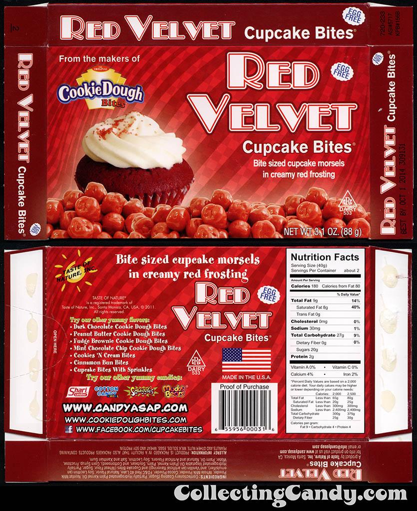 Taste of Nature - CandyASAP - Red Velvet Cupcake Bites - 3.1 oz candy box - September 2014