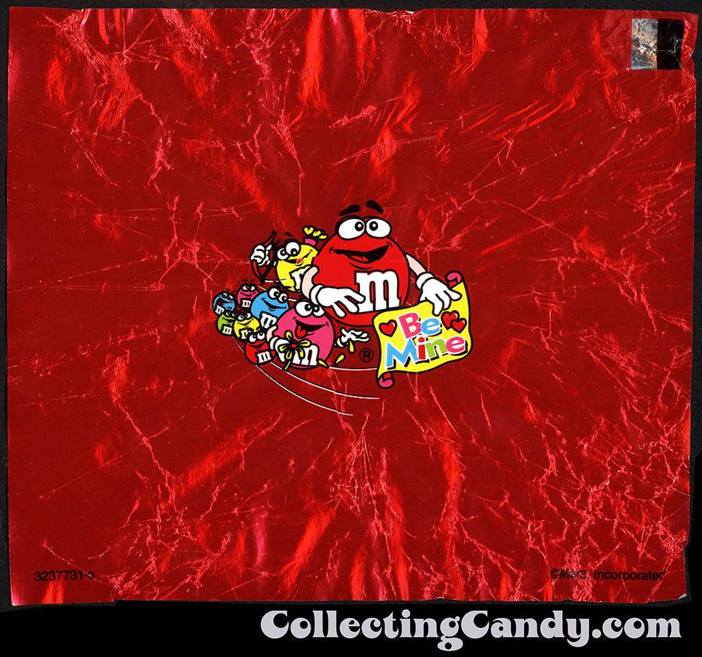 CC_Mars - M&M's Minis Valentine Heart - inner foil wrapper - 2001