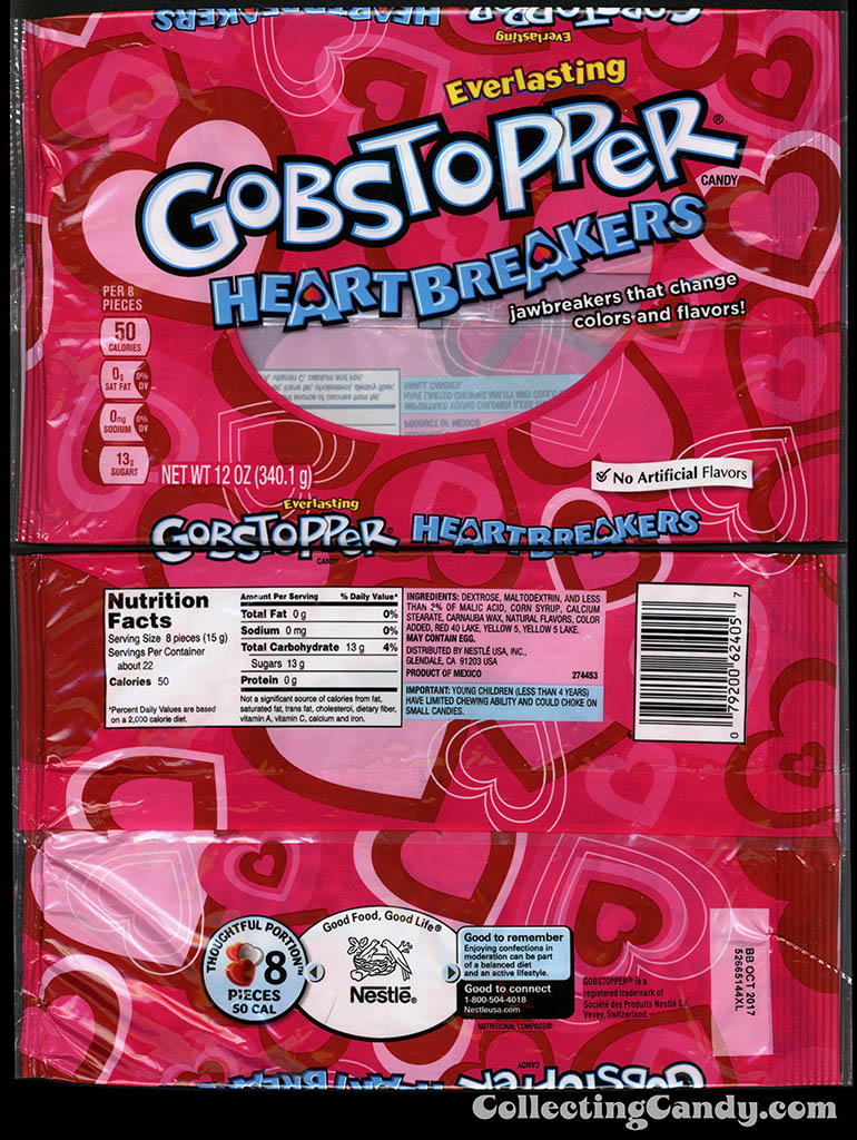Nestle - Gobstopper Heartbreakers - 12oz Valentine's candy package - January 2016