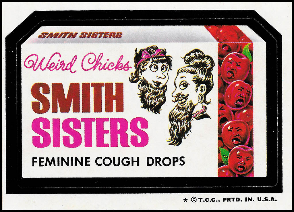 Smith Sisters - Wacky Packages 5th Series - 1973-4