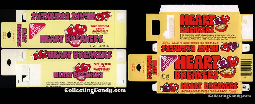 Sunmark - Willy Wonka Brands - Heart Breakers - 1981 to 1983 side-by-side