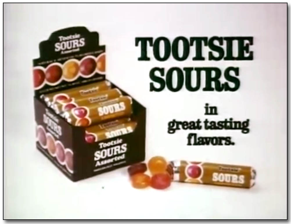 Tootsie Sours tv commercial screen grab