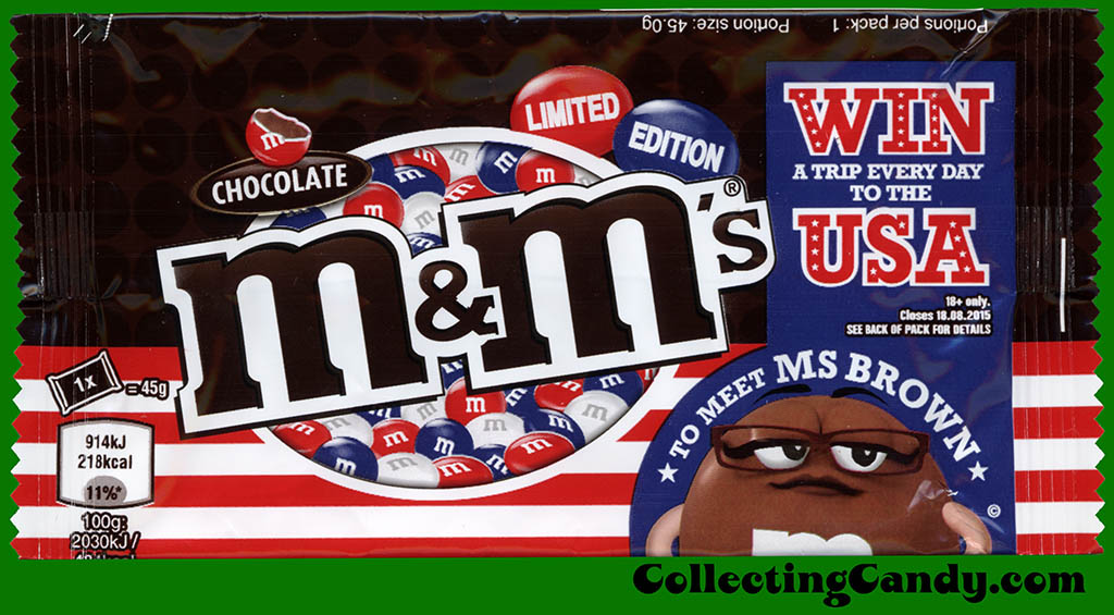 UK - Mars - M&M's chocolate - limited edition - Trip to the USA - candy package - Summer 2015