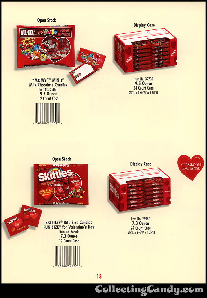 M&M-Mars - Valentine's Day 2001 product catalog Page 0013