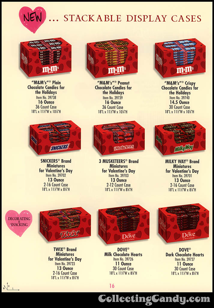 M&M-Mars - Valentine's Day 2001 product catalog Page 0016