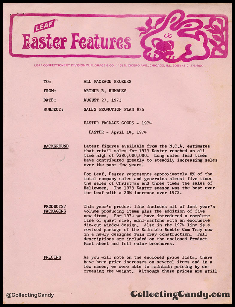 Leaf Easter 1974 - Features - sales supplemental - Page 01