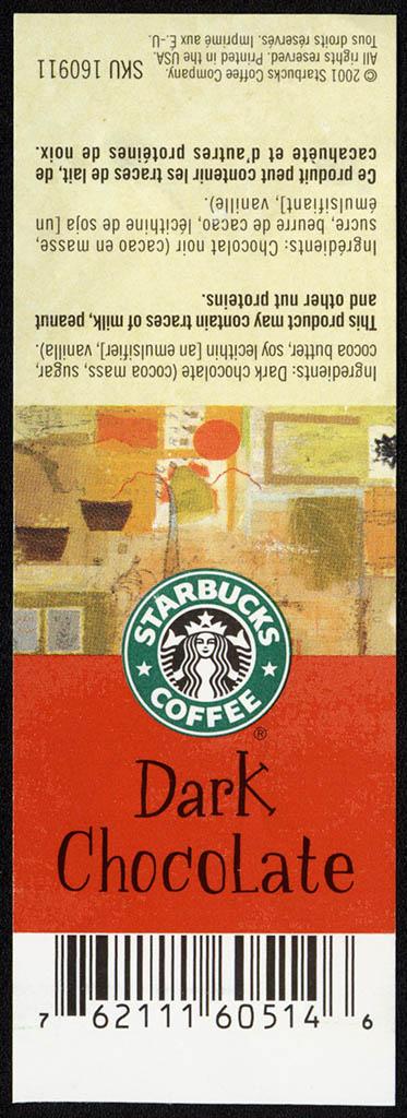 Starbucks Coffee -Dark Chocolate - band wrapper - 2001