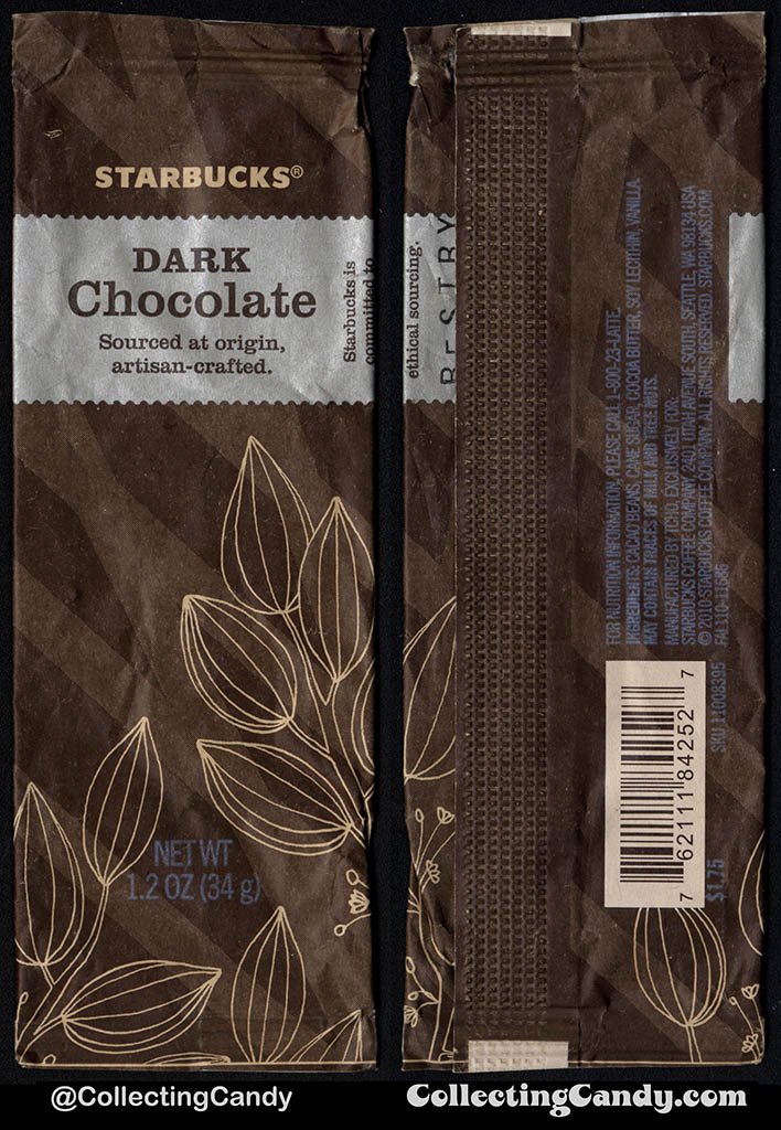 Starbucks - Dark Chocolate coated cacao beans - 1.2 oz chocolate candy package - 2010