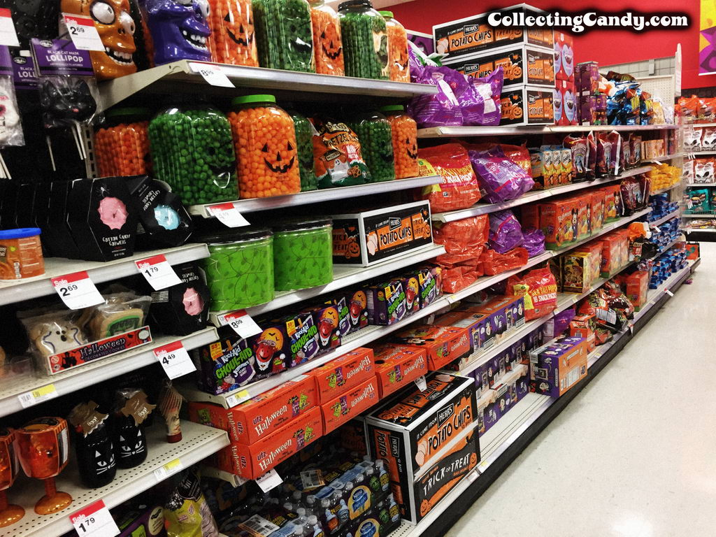 2016 Target Halloween candy and snack isle.
